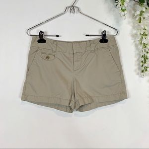 LOFT khaki chino shorts 100% cotton